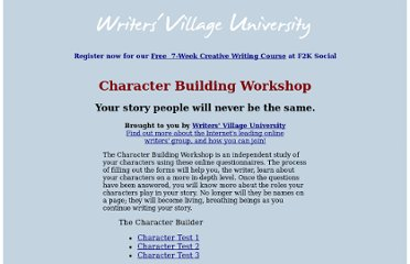 http://writersvillage.com/character/index.htm