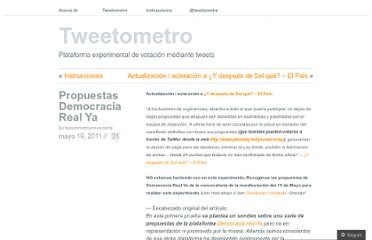 http://tweetometro.wordpress.com/2011/05/19/propuestas-democracia-real-ya/