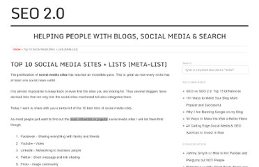 http://seo2.0.onreact.com/top-10-social-media-sites-lists-meta-list