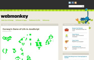 http://www.webmonkey.com/2010/03/conways-game-of-life-in-javascript/