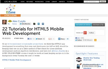 http://mobile.dzone.com/news/html5-mobile-web-development