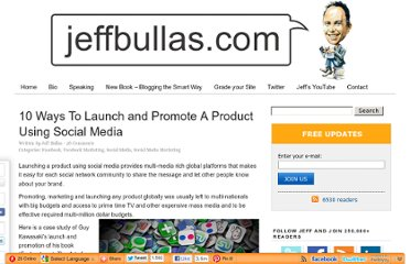 http://www.jeffbullas.com/2011/05/20/10-ways-to-launch-and-promote-a-product-using-social-media/