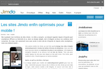 http://fr.jimdo.com/2011/05/20/les-sites-jimdo-enfin-optimis%C3%A9s-pour-mobile/