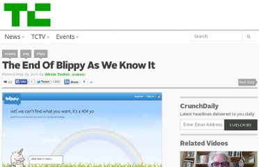 http://techcrunch.com/2011/05/19/the-end-of-blippy-as-we-know-it/