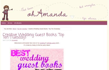 http://ohamanda.com/2011/04/12/creative-wedding-guest-books-top-ten-tuesday/