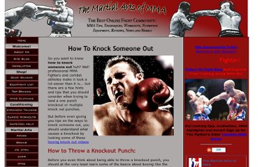 http://www.the-mixed-martial-arts-of-mma.com/How-To-Knock-Someone-Out.html