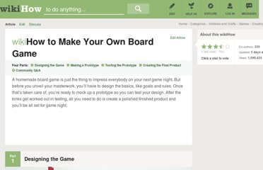 http://www.wikihow.com/Make-Your-Own-Board-Game