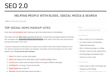 http://seo2.0.onreact.com/top-10-social-news-mashup-sites