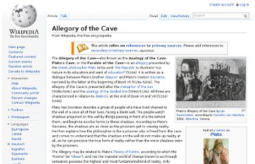 http://en.wikipedia.org/wiki/Allegory_of_the_Cave