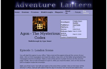 http://www.adventurelantern.com/walkthroughs/agonthemysteriouscodex/agonthemysteriouscodex.htm