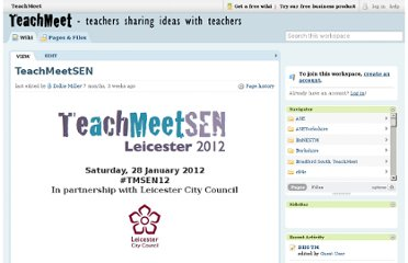 http://teachmeet.pbworks.com/w/page/40447739/TeachMeetSEN