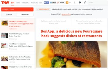 http://thenextweb.com/apps/2011/05/20/bonapp-a-delicious-new-foursquare-hack-suggests-dishes-at-restaurants/