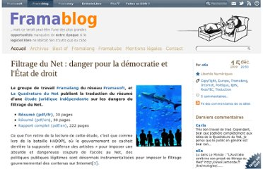 http://www.framablog.org/index.php/post/2009/12/15/filtrage-internet-danger-democratie