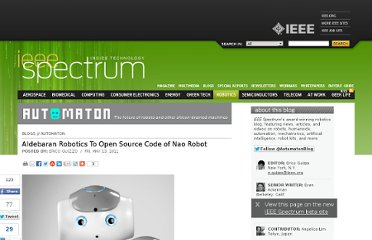 http://spectrum.ieee.org/automaton/robotics/robotics-software/aldebaran-robotics-to-open-source-nao-robot