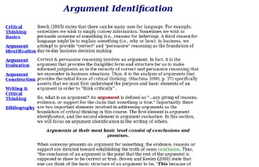 http://lilt.ilstu.edu/staylor/critical_thinking/argument_identification.htm