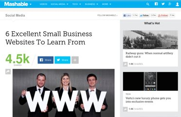http://mashable.com/2011/05/21/small-business-websites/