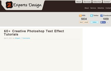 http://www.2expertsdesign.com/tutorials/60-creative-photoshop-text-effect-tutorials