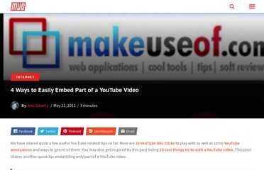 http://www.makeuseof.com/tag/4-ways-easily-embed-part-youtube-video/
