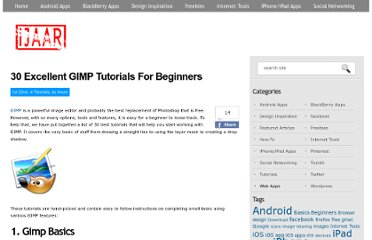 http://ijaar.com/30-excellent-gimp-tutorials-for-beginners/