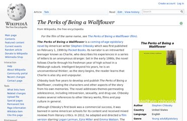 http://en.wikipedia.org/wiki/The_Perks_of_Being_a_Wallflower