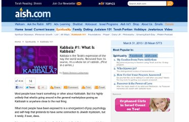 http://www.aish.com/sp/k/Kabbala_1_What_Is_Kabbala.html