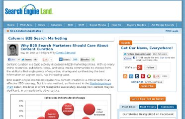 http://searchengineland.com/why-b2b-search-marketers-should-care-about-content-curation-76684