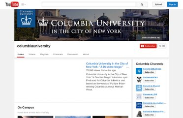 http://www.youtube.com/user/columbiauniversity#g/c/49C7AA14331CFEF3