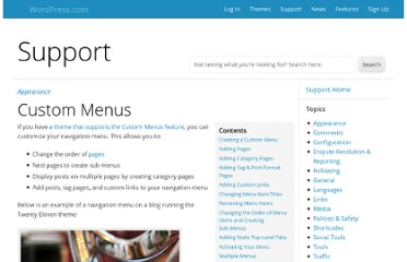 http://en.support.wordpress.com/menus/