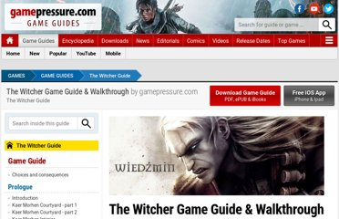 http://guides.gamepressure.com/thewitcher/