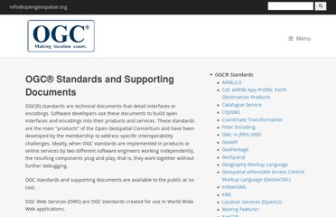 http://www.opengeospatial.org/standards