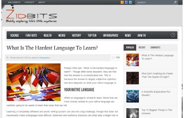 http://zidbits.com/2011/04/what-is-the-hardest-language-to-learn/