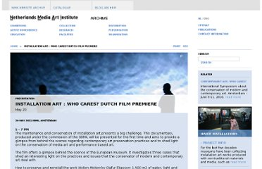 http://nimk.nl/eng/installation-art-who-cares-dutch-film-premiere