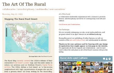 http://theruralsite.blogspot.com/2011/05/mapping-rural-food-desert.html