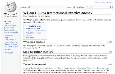 http://en.wikipedia.org/wiki/William_J._Burns_International_Detective_Agency
