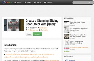 http://www.queness.com/post/620/create-a-stunning-sliding-door-effect-with-jquery