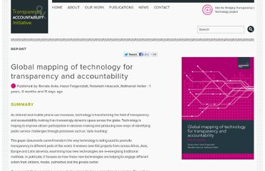 http://www.transparency-initiative.org/reports/global-mapping-of-technology-for-transparency-and-accountability
