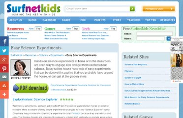 http://www.surfnetkids.com/science_experiments.htm