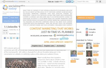 http://socialmediatoday.com/igiedrius/295458/5-linkedin-must-haves