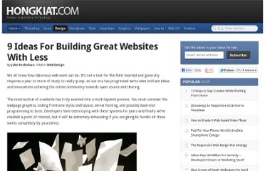 http://www.hongkiat.com/blog/building-great-website-with-less/
