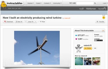 http://www.instructables.com/id/How-I-built-an-electricity-producing-wind-turbine/