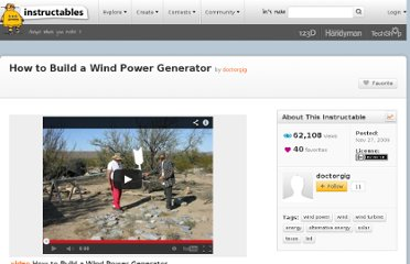 http://www.instructables.com/id/How-to-Build-a-Wind-Power-Generator/