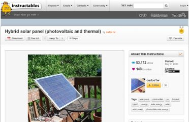 http://www.instructables.com/id/Hybrid-solar-panel-photovoltaic-and-thermal/