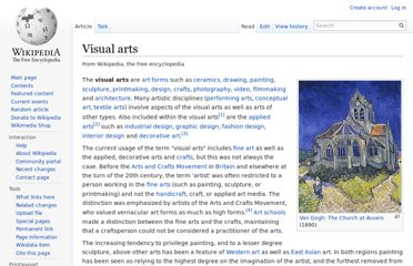 http://en.wikipedia.org/wiki/Visual_arts