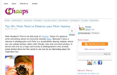 http://www.chaaps.com/top-30-flickr-tools-to-enhance-your-flickr-journey.html