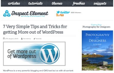 http://inspectelement.com/tutorials/7-very-simple-tips-and-tricks-for-getting-more-out-of-wordpress/