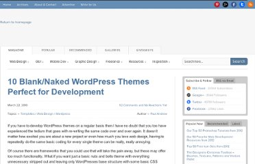 http://speckyboy.com/2010/03/22/10-blanknaked-wordpress-themes-perfect-for-development/