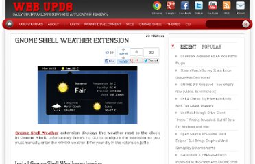 http://www.webupd8.org/2011/05/gnome-shell-weather-extension.html