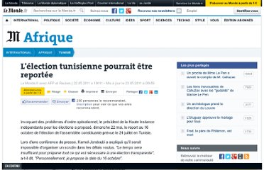 http://www.lemonde.fr/tunisie/article/2011/05/22/l-election-tunisienne-pourrait-etre-reportee_1525789_1466522.html#xtor=RSS-3208
