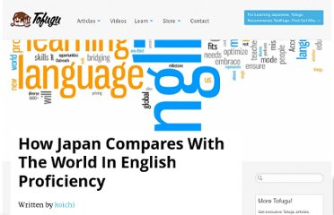 http://www.tofugu.com/2011/04/14/japan-english-proficiency-world-comparison/