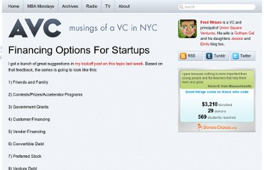 http://www.avc.com/a_vc/2011/05/financing-options-for-startups.html